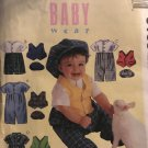 McCall's 9166 BABY wear Romper, Vest and Hat Sizes Small to Extra Large Sewing Pattern