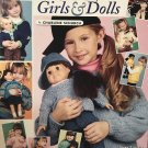 """Knits for Girls and Dolls Sizes 2-12 -18"""" Dolls American School of Needlework 1348"""
