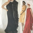 Vogue 2832 Evening Dress Sewing Pattern EDITH HEAD Draped One Shoulder  Size 12 Bust 34