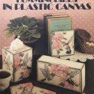 Plastic Canvas Hummingbirds Leisure Arts 1204 Tissue cover, Door Stop, Coasters Book Ends