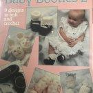 Baby Booties 2 Knit & Crochet Pattern Leisure Arts 783 Nine Designs