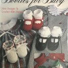 Booties for Baby Crochet Pattern Leisure Arts 2152 Thread Crochet designs by Terry Kimbrough