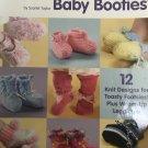 A Dozen Darling Baby Booties 12 Knit Designs School of Needlework 1426