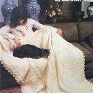 Afghan Album book 237 knit or crochet pattern booklet by Bernat