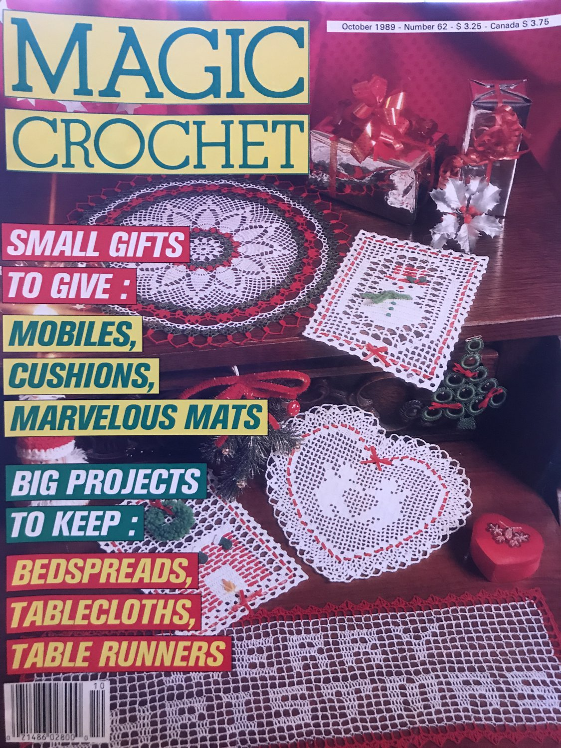 Magic Crochet Pattern Magazine Number 62 October 1989