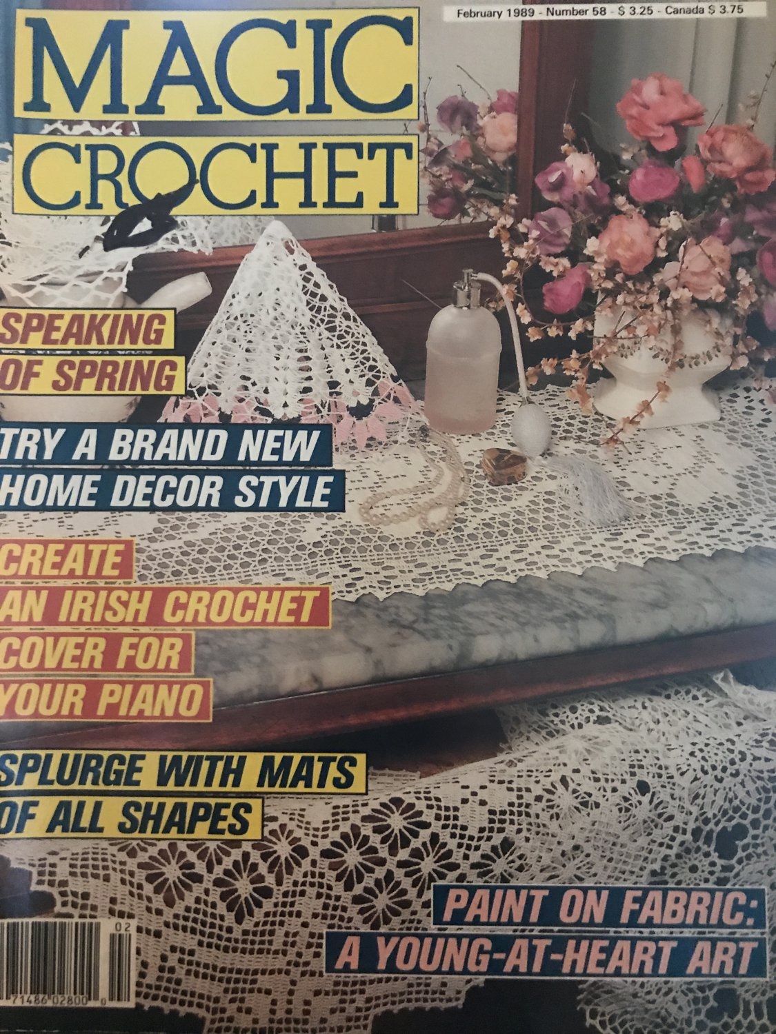 Magic Crochet Pattern Magazine Number 58 February 1989
