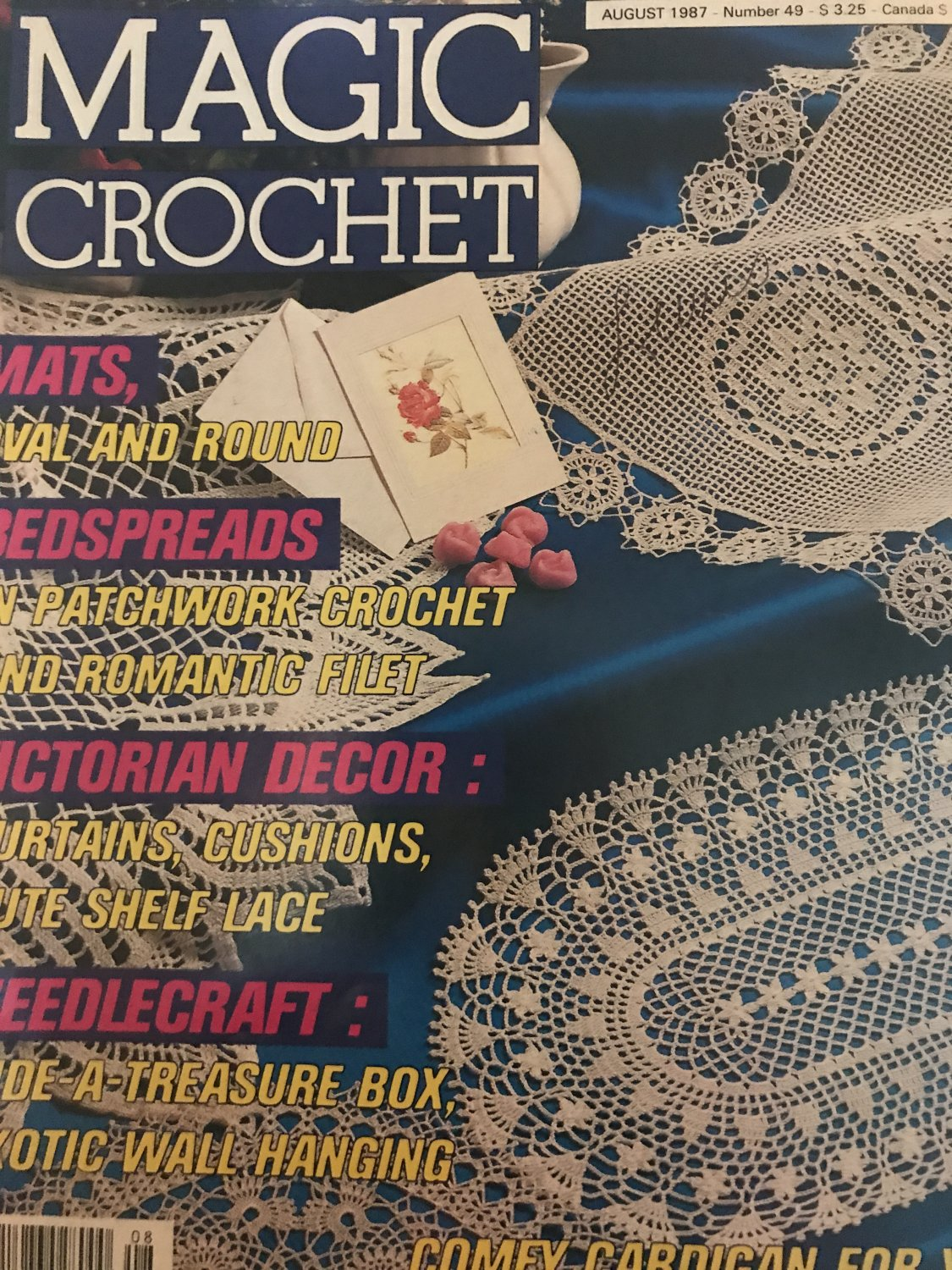 Magic Crochet Pattern Magazine Number 49 August 1987