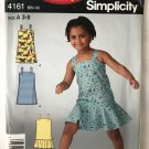 Simplicity 4161 sewing pattern Girl's Dress or Jumper Size 3-8 Uncut