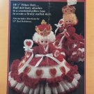 Fibre Craft Pillow Doll, Bed Doll Queen of Hearts FCM 161 Crochet Pattern