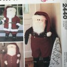 """McCall's Crafts 2440 SANTA DOOR GREETERS Sewing Pattern 40"""" tall Christmas Holiday Decor"""
