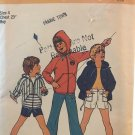 Simplicity 6955 Boy's Pants or Shorts and Unlined Hooded Jacket Sewing Pattern Size 4 Chest 23""