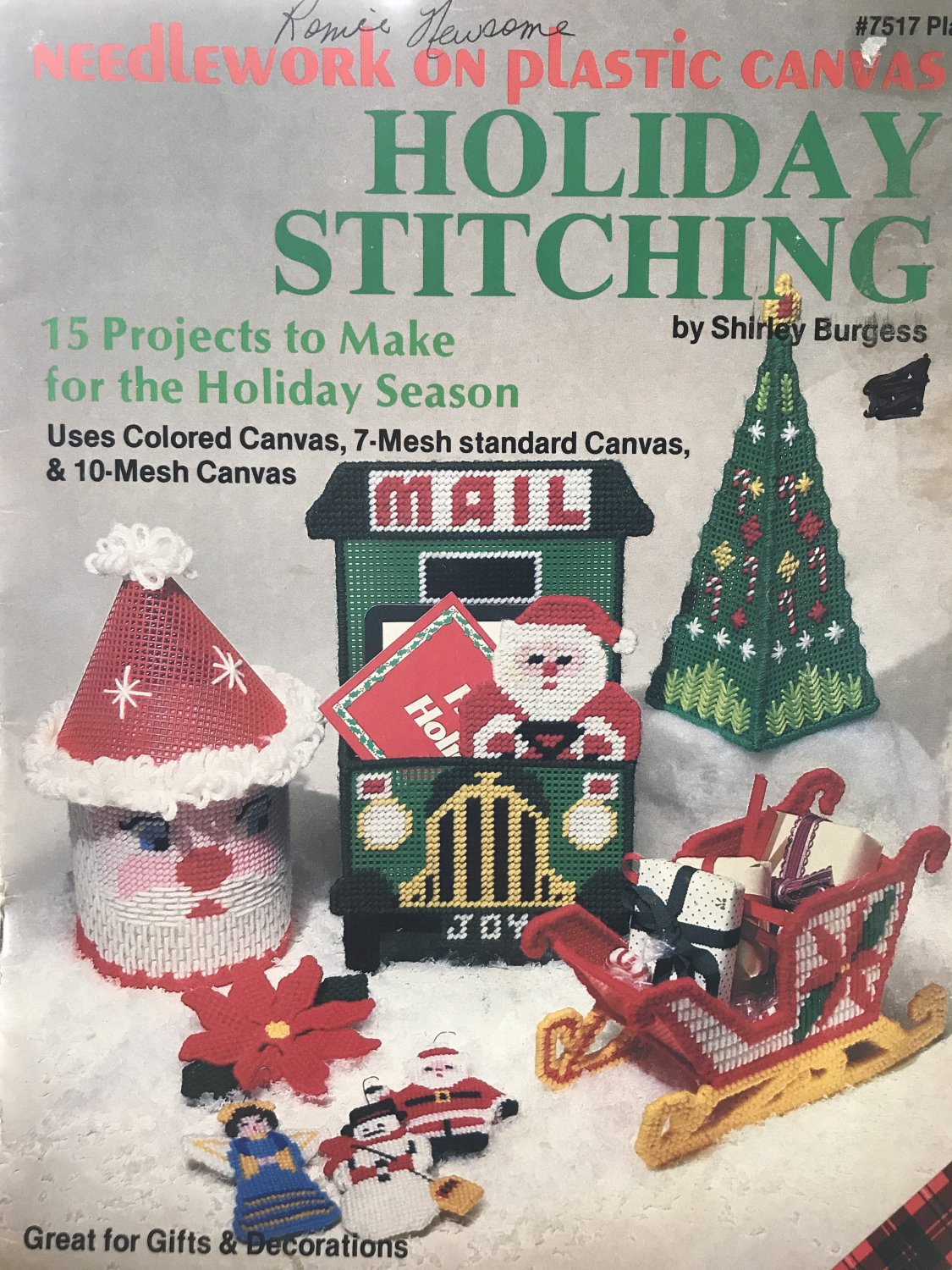 Holiday Stitching in Plastic Canvas Pattern Plaid 7517
