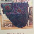 Crochet Afghans Pattern Herrschners Treasury of Crochet Afghans 2013 Calendar 12 designs