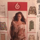 McCalls M4514 4514 Summer Top with 6 great looks size 10 12 14 16 Sewing Pattern