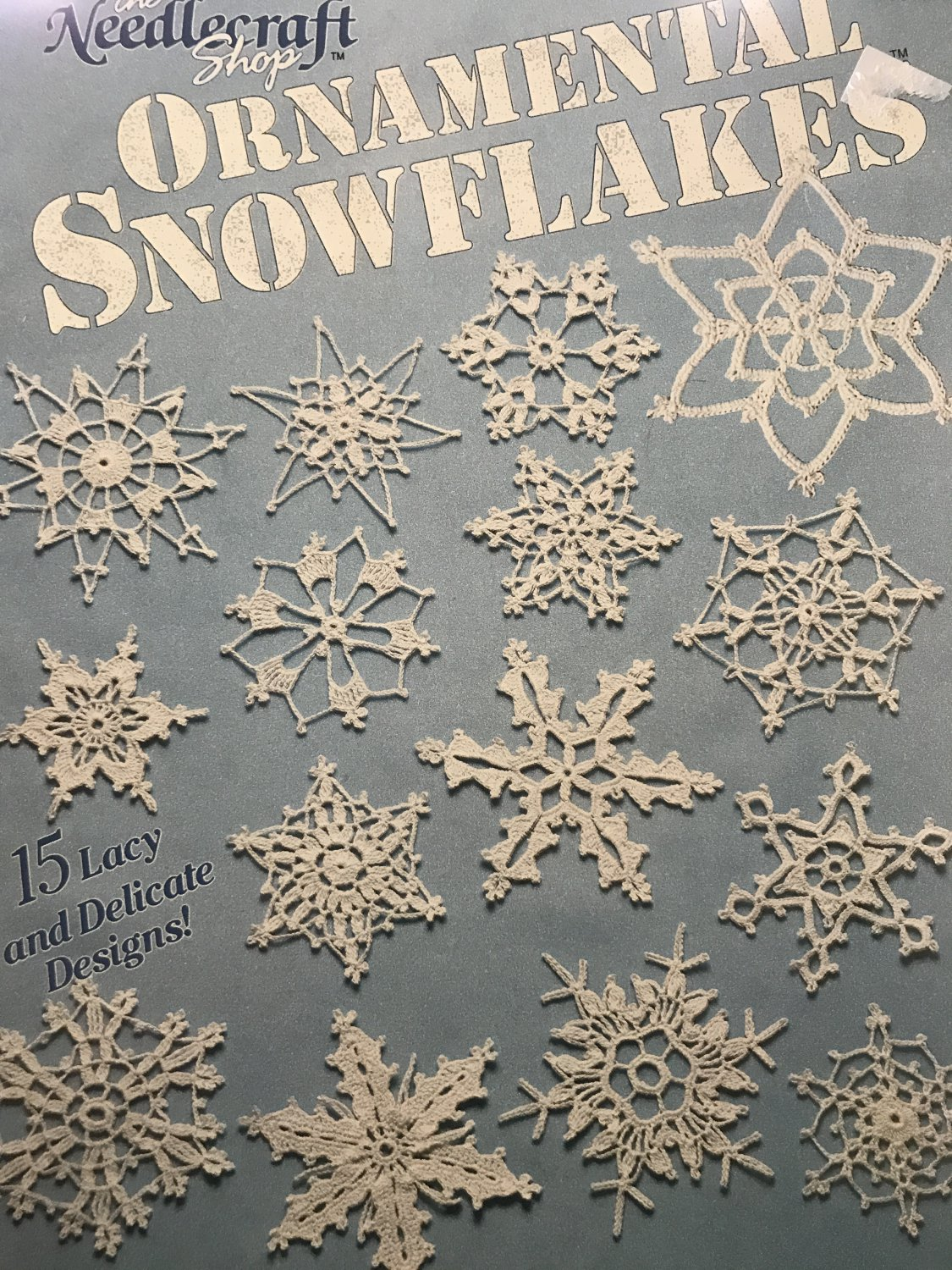 Ornamental Snowflakes  Lucille LaFlamme Crochet Instruction Pattern Book The Needlecraft Shop 901302