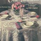 Oval Tablecloths Thread Crochet Pattern 5 designs Filet Crochet American School of Needlework 1253