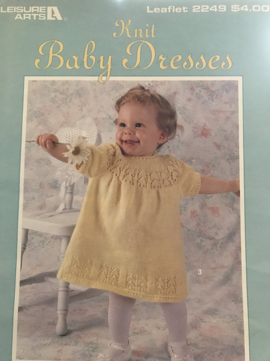 Baby Dresses Knitting Pattern Leisure Arts Leaflet 2249 Four designs by C Strohmeyer