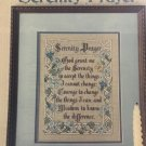 Serenity Prayer Cross Stitch Pattern Leaflet Leisure Arts 445