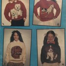 DOGS 4 knitting patterns Intarsia Patterns Patons for Childrens sizes