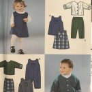 Simplicity 9911 Infants Rompers Dress Pants Lined Jacket Sewing Pattern Size Newborn 7 -24 Pounds