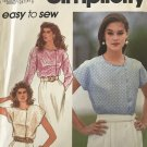Simplicity 7821 Misses' Pullover Blouse Sewing Pattern size 18 - 24