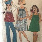 Simplicity 8092 Simple-to-Sew Girls' pullover dress, jumper or Top Sewing Pattern Size girls 14