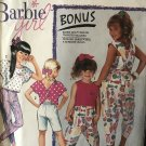 Simplicity 7134 Barbie Girl Short Pants or Top Sewing Pattern Size girls 3 to 6x
