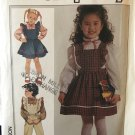 Simplicity 7011 Girls' Blouse Jumper Overalls Sewing Pattern Size girls 3 to 5