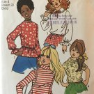 Simplicity 9478 Child's and Girls' Set of Blouses Sewing Pattern size 4