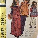McCall's 3380 Child's and Girl's Dress or Pinafore Sewing Pattern Size 4.