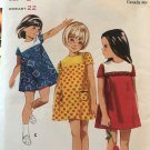Butterick 4373 Quick 'N Easy One-Piece A-line dress Sewing Pattern Child size 3 bust 22""