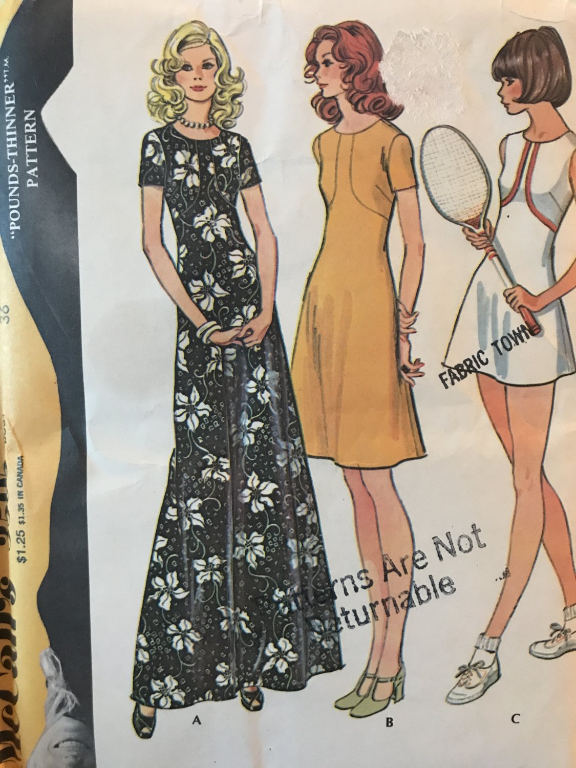 McCall's 3595 Misses' Dress or Tennis Dress & Pants Size 14 Sewing Pattern