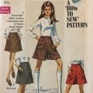 Simplicity 8418 Young Junior/Teens' and Misses' Skirt in Two Lengths and Mini-Pantskirt Size 16