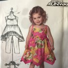 New Look 6136 Toddler Sundress Project Runway Design size 1/2 - 4 Sewing Pattern.