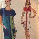 Vogue Sewing Pattern 8020 Tapered Shift Dress Blocking Detail Sleeveless or Cap Sleeves Size 18 - 22
