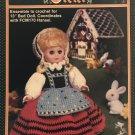 "Fibre Craft Gretel Doll FCM 171 Crochet Pattern uses 13"" bed doll."