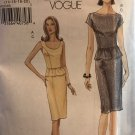 Vogue 8231 Misses sleeveless or cap sleeve top and skirt sewing pattern size 14 16 18 20
