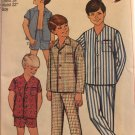 """Simplicity 7399 Boys' Pajamas in Two Lengths Sewing Pattern Size 6 chest 24"""" waist 22"""""""