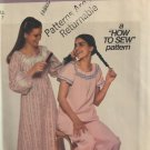 Simplicity 8134 Childs' Pajama Nightgown Slipper Sewing Pattern Size 7