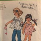 Simplicity 5649 Toddlers Smock Top, Bell-Bottom Pants or shorts Sewing Pattern Size 3