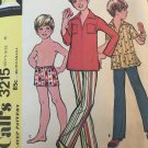 McCall's 3215 boy's shirt, pants and swim trunks Sewing Pattern Size 5
