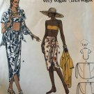 Vogue 9298 Beach Shirt with a Bandeau Top and Wrap Skirt Cover Up Sizes 6 - 16 sewing pattern