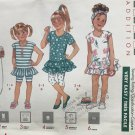 Butterick 3967 childs pullover dress top shorts leggings size 4 5 6 sewing pattern