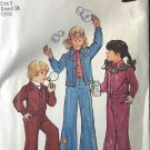 Simplicity 6533 Child's Unlined Jacket and Bell-Bottom Pants Size 5 breast 24 Sewing Pattern