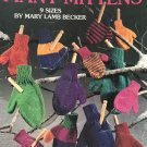 Many Mittens Knitting Pattern Leisure Arts 2473 use 2 needles sized for entire family.