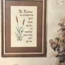Cross Stitch Pattern A FATHER IS SOMEONE.. Country Crafts leaflet 39