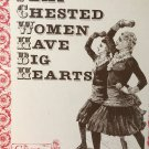 Cross Stitch Pattern Flat Chested Women Have Big Hearts Country Mouse