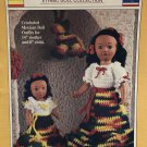 "World Friends Mexican Doll Dress outfits 14"" mother 8"" Child Crochet Pattern Fibre Craft FCM218"