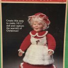 "Fibre Craft Mrs. Claus Doll 16 1/2"" FCM153 crochet pattern"