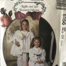 McCalls 5156 Ruffles and Lace robe nightgown pajamas doll clothes sewing pattern sz 7 8 10